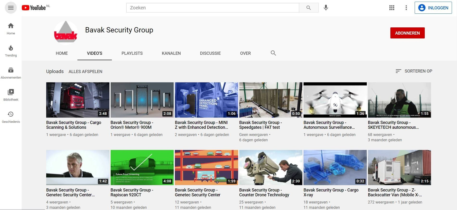 Bavak Security Group op YouTube